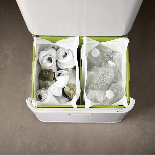 Koše na triedený odpad Intelligent Waste Totem 60, slonovinová kosť