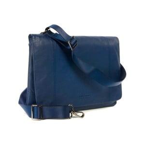 Modrá taška na rameno z talianskej kože Tucano One