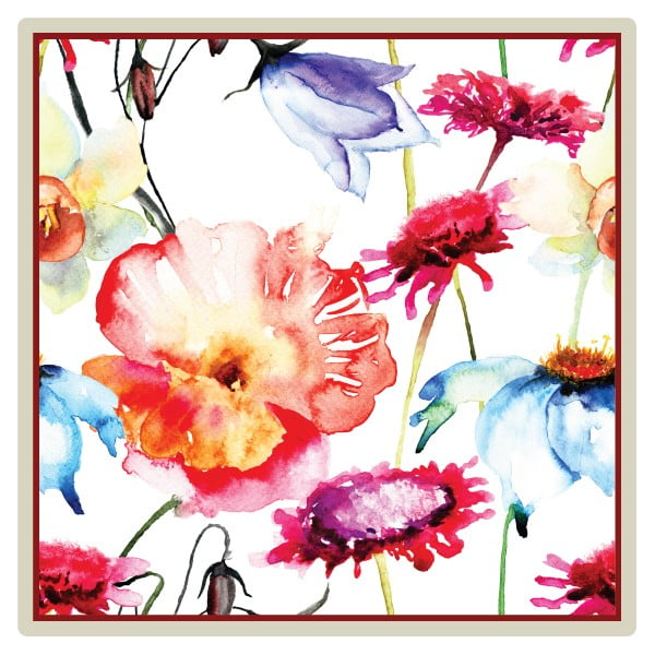 Sada 2 prestieraní Nisha Birds and Flowers, 20x20 cm