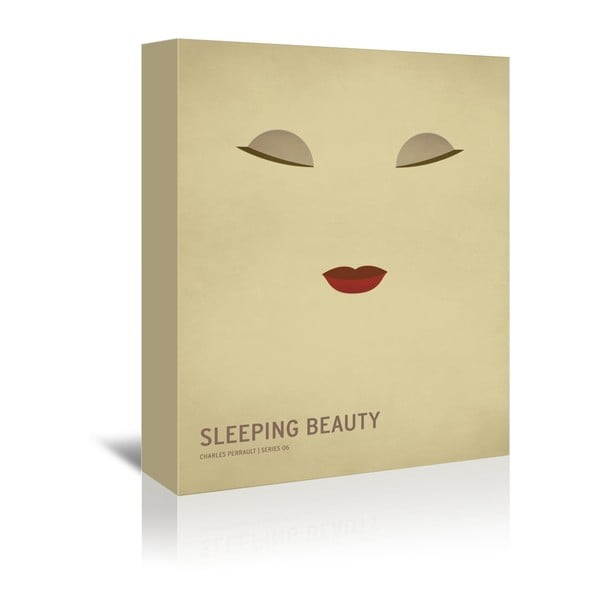 Obraz na plátne Sleeping Beauty With Text od Christiana Jacksona