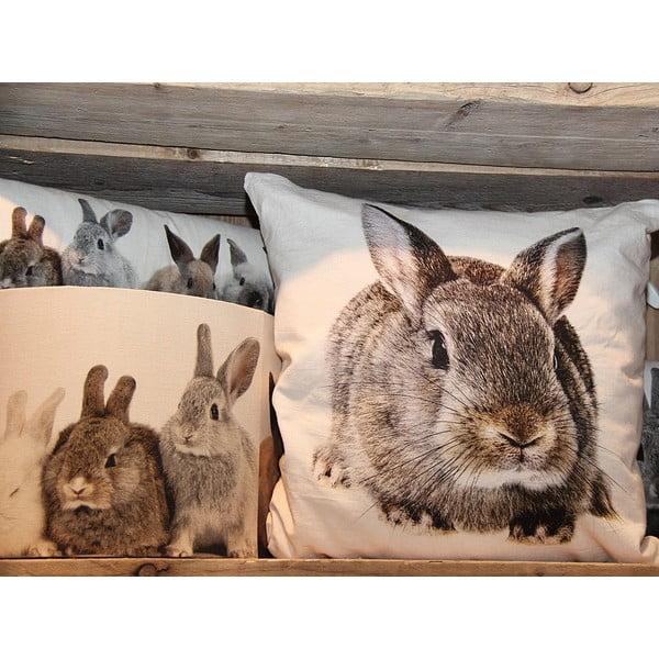 Vankúš Mars&More Brown Rabbit, 50x50cm