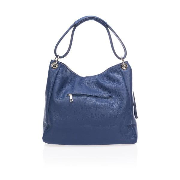 Modrá kožená kabelka Lisa Minardi Herta