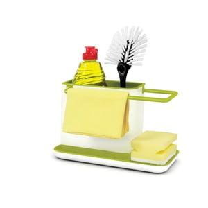Bielo-zelený kuchynský stojan na umývacie prostriedky Joseph Joseph Caddy Sink Tidy