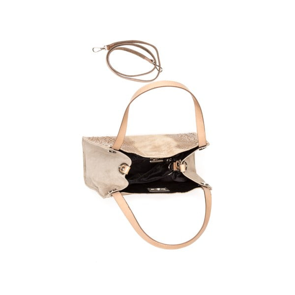 Kožená kabelka Renata Corsi 839 Fango