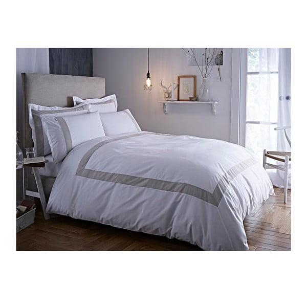 Sivo-biele obliečky Bianca Tailored, 200 x 200 cm