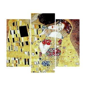 3-dielny obraz The Kiss