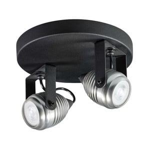 Nástenné/stropné svietidlo v čiernej a striebornej farbe ETH Wasp Dos