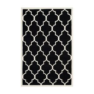 Čierny vlnený koberec Safavieh Alameda, 182 x 274 cm