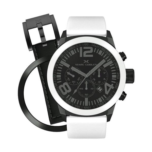 Unisex hodinky Marc Coblen s remienkom a krúžkom na ciferník naviac P44