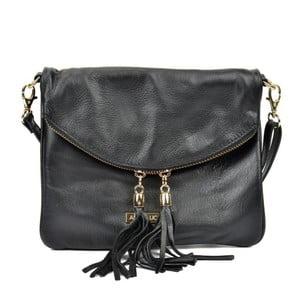 Čierna kožená kabelka Anna Luchini Missillo