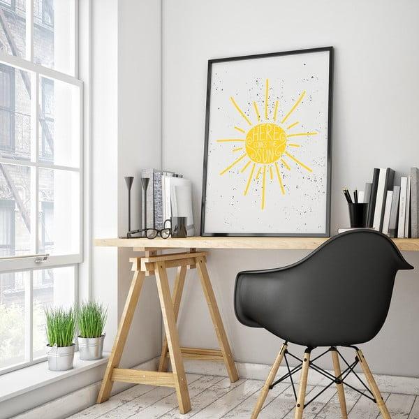 Plagát Here Comes The Sun, 30 x 40 cm