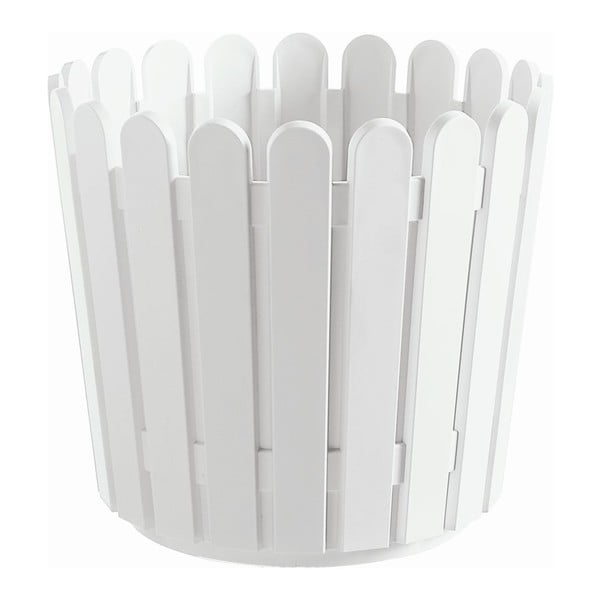 Kvetináč Round Planter White, 30x27 cm