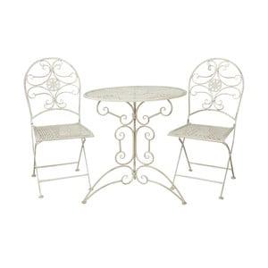 Set stôl + stolička Vintage White