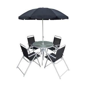 Set záhradného kovového nábytku sa slnečníkom Timpani Rossi