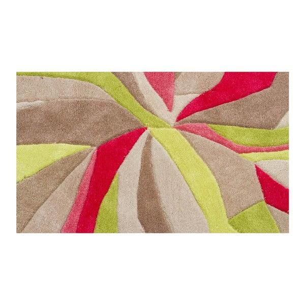 Koberec Splinter Pink Green, 120x170 cm