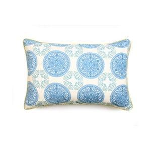 Modrá obliečka na vankúš WeLoveBeds Ornaments, 40×60 cm