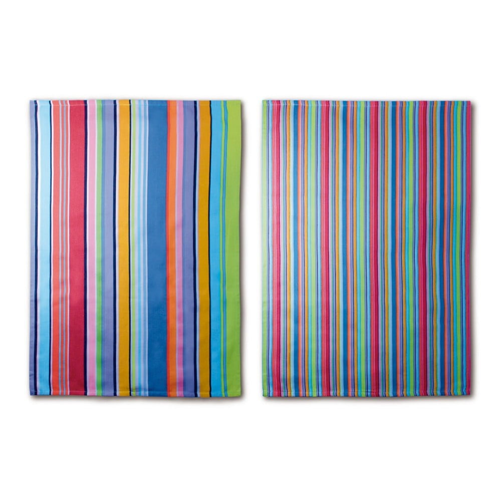 Sada 2 utierok Remember Purple Stripes, 70 × 50 cm