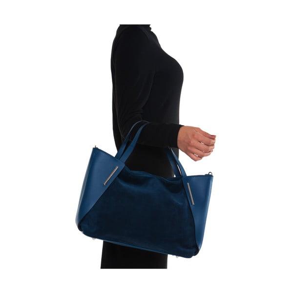 Kožená kabelka Mangotti 878 Blu