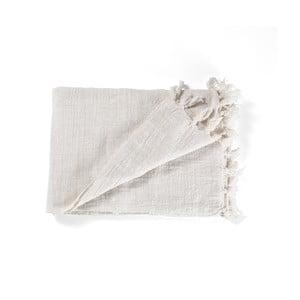 Béžový bavlnený pléd Oreste Luchettas Yantra