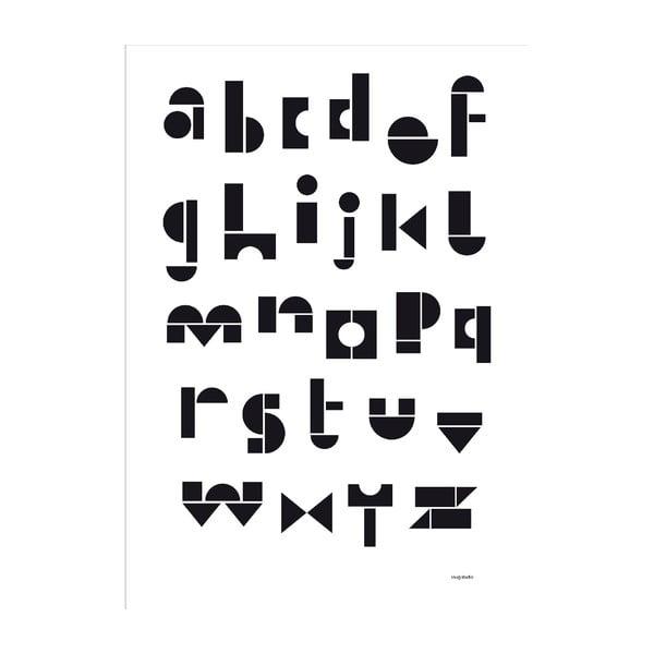 Plagát SNUG.ABC, 50x70cm, čierno-biely
