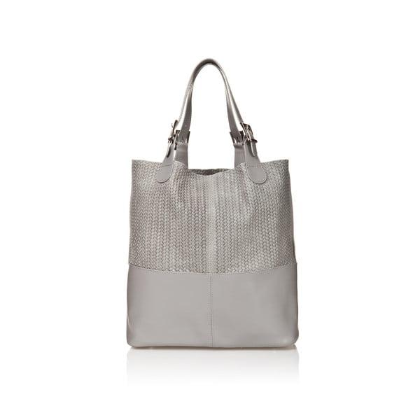 Kožená kabelka Juliana, sivá