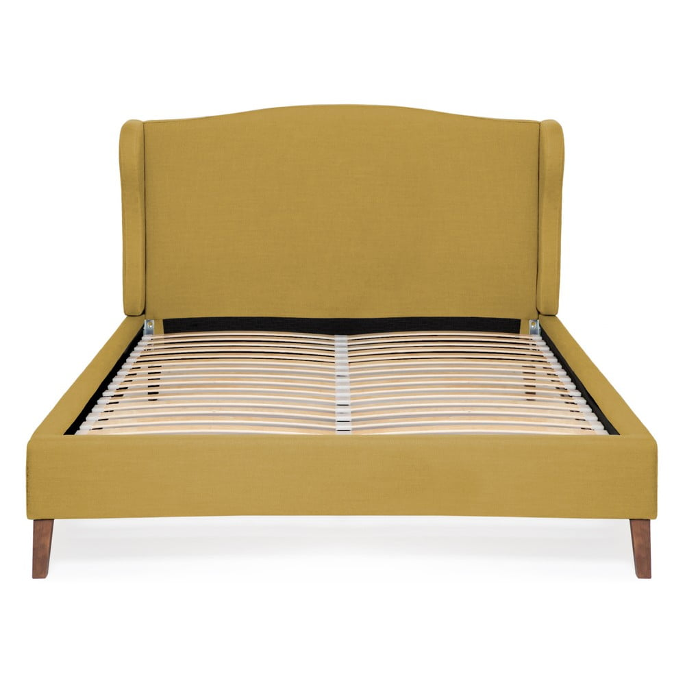 Kukuričnežltá posteľ Vivonita Windsor Linen, 200 × 160 cm