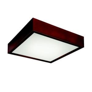 Hnedé štvorcové stropné svietidlo Lamkur Plafond, 37,5 x 37,5 cm