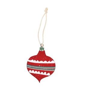 Červená vianočná ozdoba Rex London Bauble