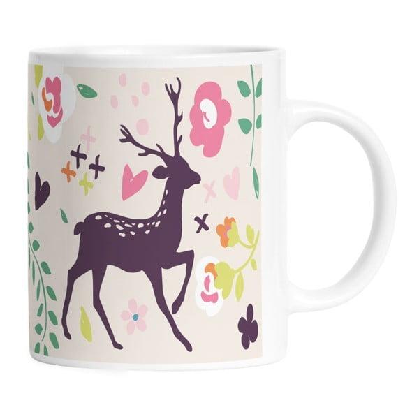 Keramický hrnček Deer And Bird, 330 ml