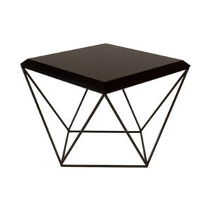 Čierny konferenčný stolík Take Me HOME Tulip, 53×53cm