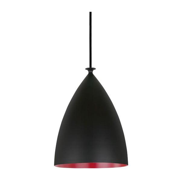 Závesné svietidlo Nordlux Slope 20 cm, čierne/červené