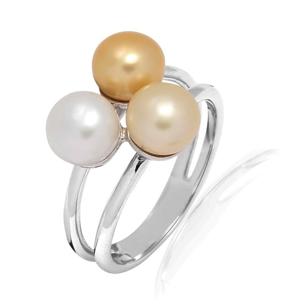 Prsteň s perlou Nova Pearls Copenhagen Delphine, veľ. 58