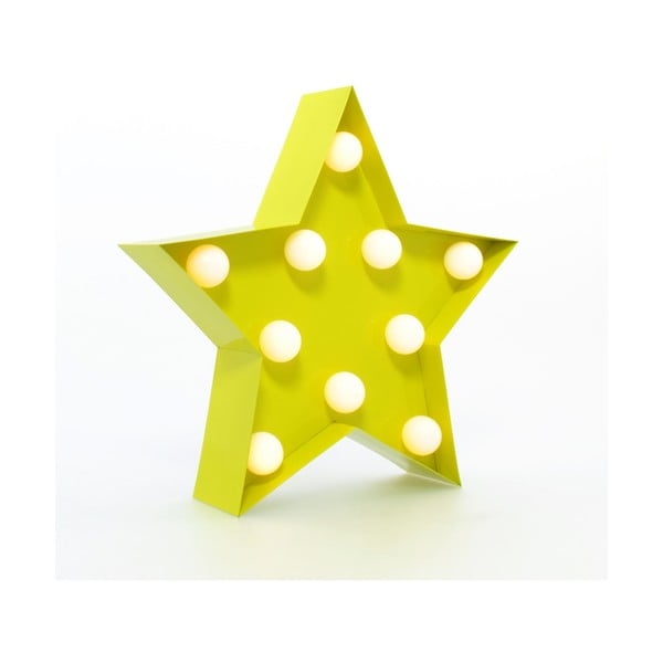 Dekoratívne svetlo Carnival Star, žlté