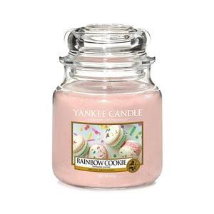 Vonná sviečka Yankee Candle Dúhové Makrónky, doba horenia 65 - 90 hodín
