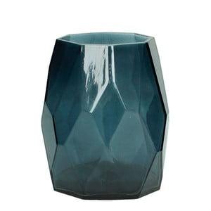 Modrá sklenená váza HF Living Diamond