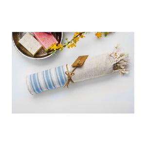 Hamam osuška Katre Blue, 100x180 cm