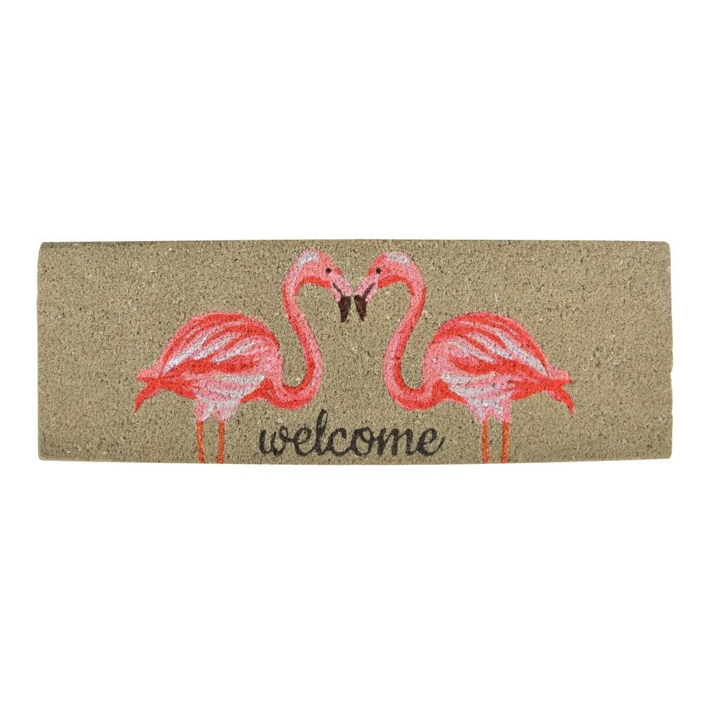 Rohožka z kokosového vlákna Esschert Design Flamingo