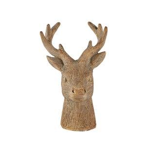 Hnedá dekoratívna soška KJCollection Reindeer Head, 12,5 cm