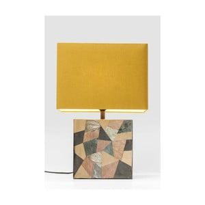 Stolová lampa so žltým tienidlom Kare Design 60ies