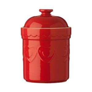 Červená dóza Premier Housewares Sweet Heart, 1,5 l