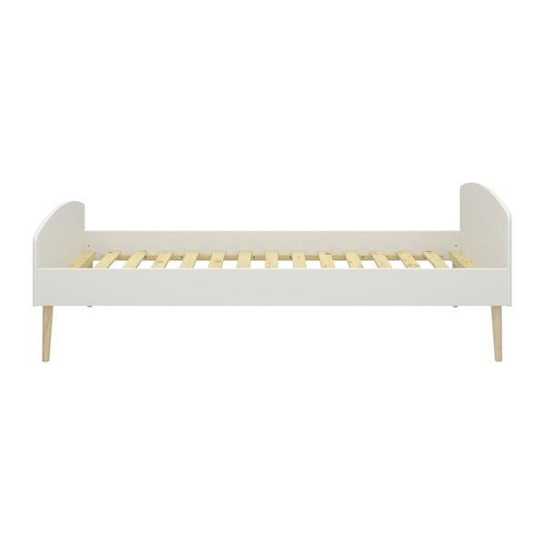Biela jednolôžková posteľ Steens Soft Line, 90 × 200 cm