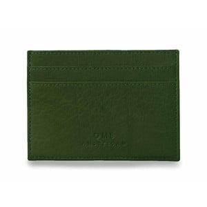 Zelené kožené puzdro na karty a vizitky O My Bag Mark´s