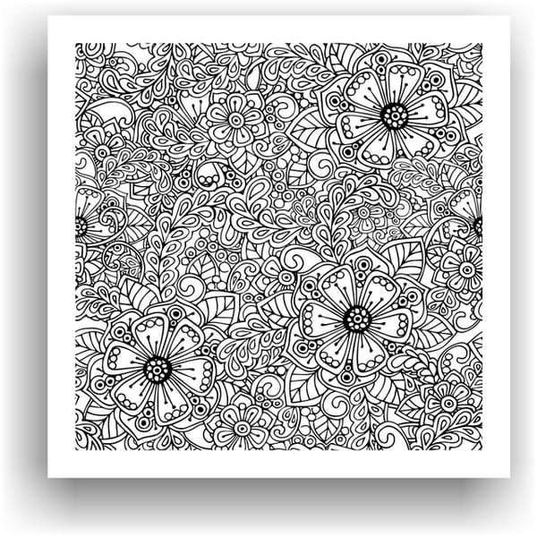Obraz na vymaľovanie Color It no. 88, 50x50 cm