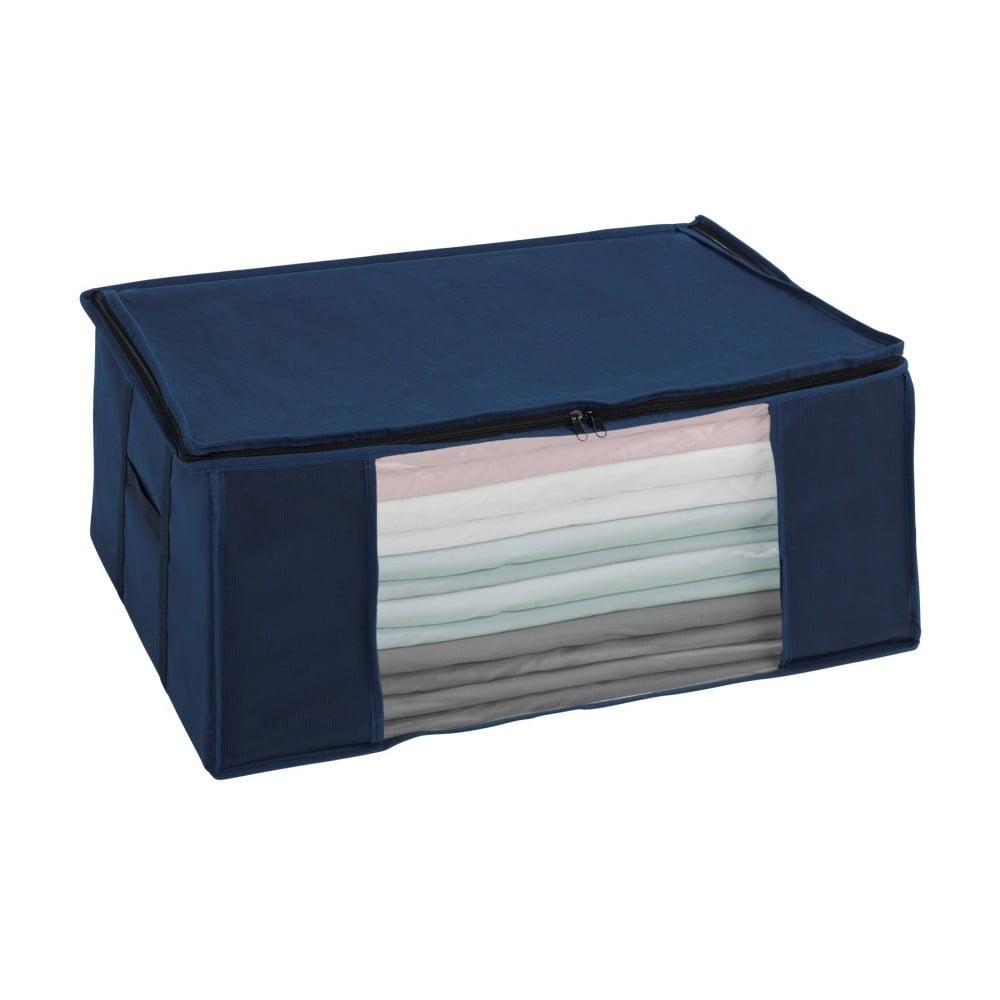 Modrý vákuový úložný box Wenko Air, 50 × 65 × 25 cm