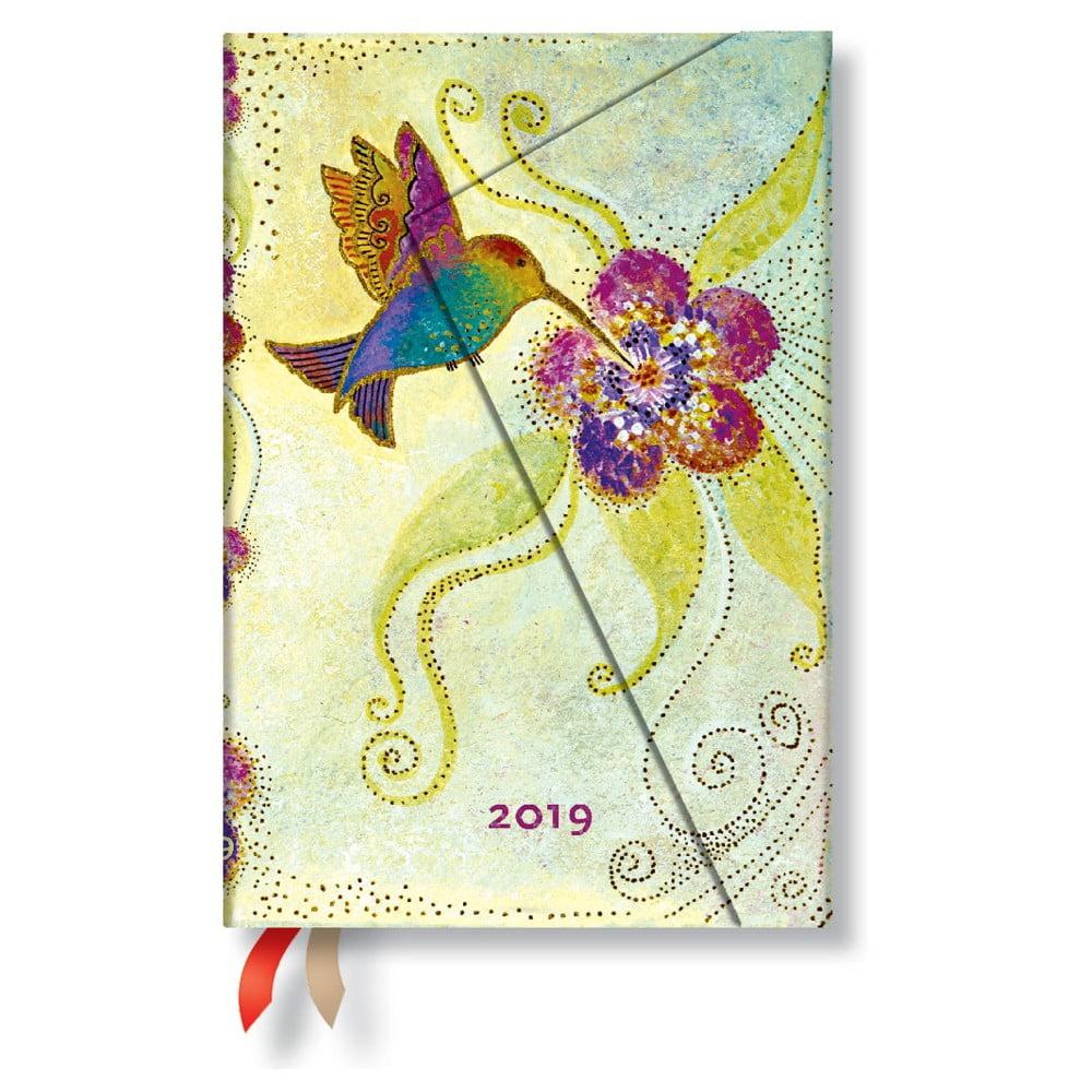 Diár na rok 2019 Paperblanks Hummingbird Horizontal, 10 x 14 cm