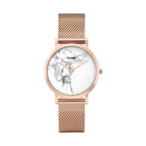 Dámske hodinky antikoro vo farbe ružového zlata a mramorovým ciferníkom Cluse La Roche Petite