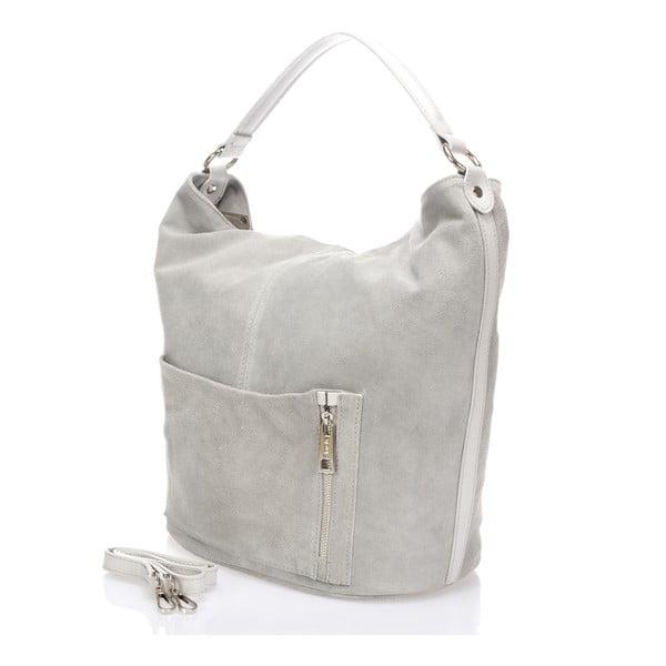 Kožená kabelka Lucinda, sivá