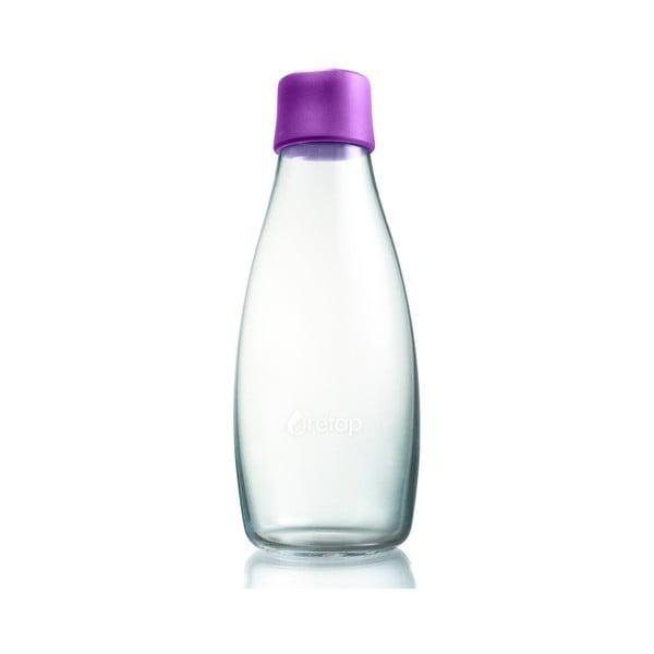 Fialová sklenená fľaša ReTap s doživotnou zárukou, 500ml