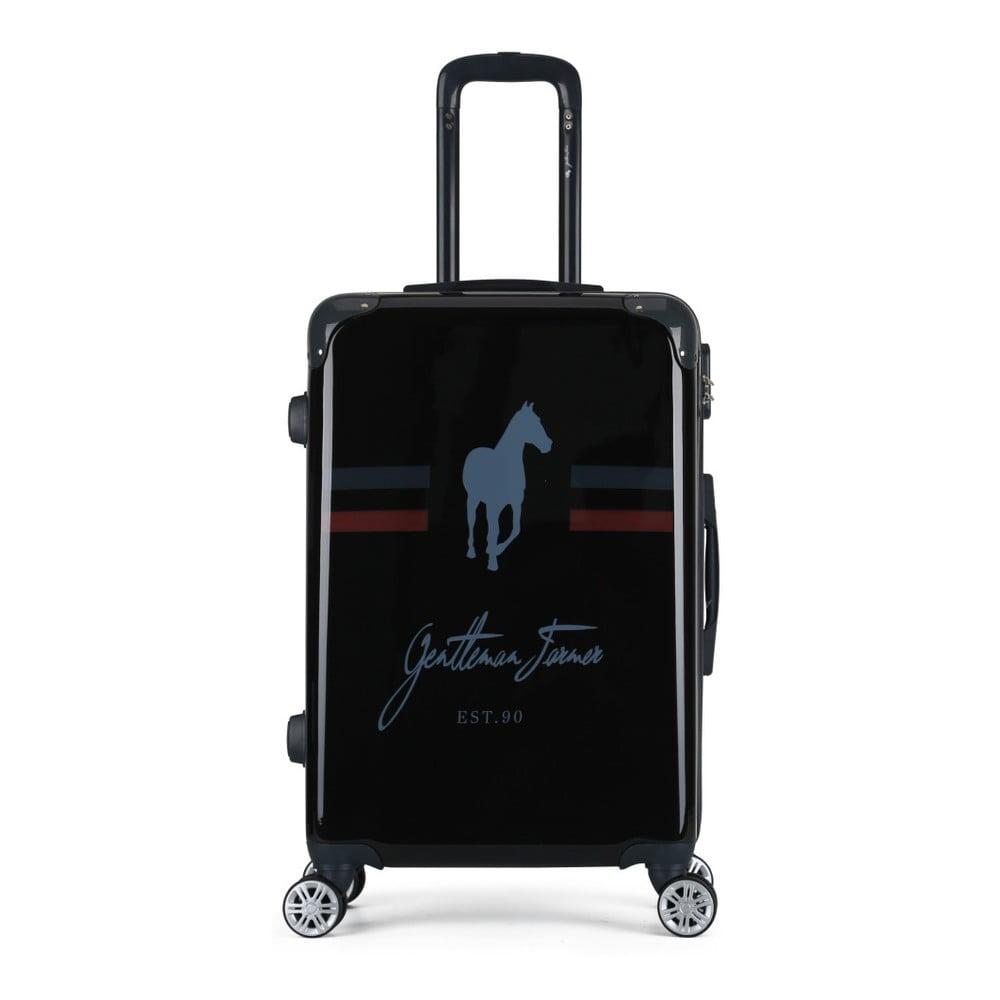 fe40e20028697 Čierny cestovný kufor na kolieskach GENTLEMAN FARMER Valise Grand Format,  47 × 72 cm