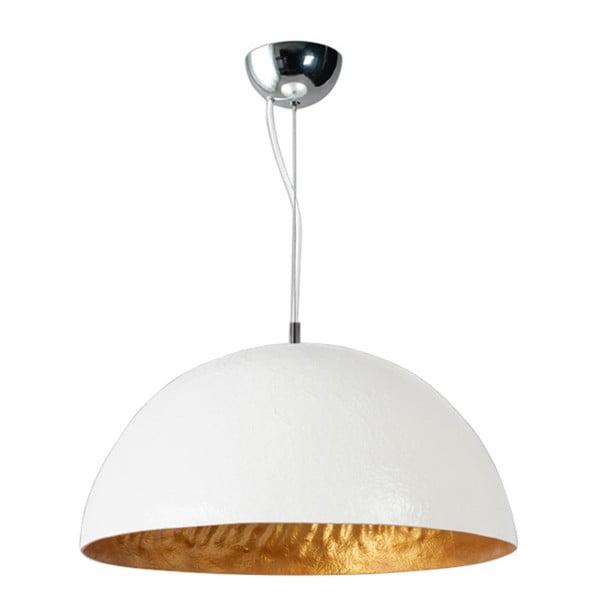 Bielo-medené stropné svietidlo ETH Mezzo Tondo, ⌀50cm